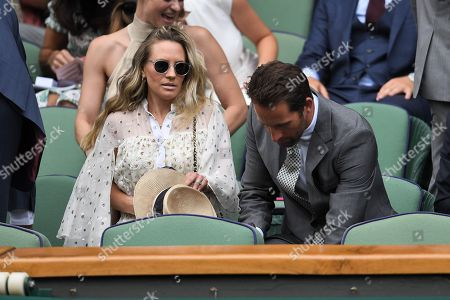Stock Image of Georgie Thompson, Ben Ainslie and Jason Roy in the Royal Box