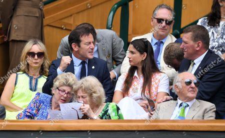 Jason Isaacs, Emma Hewitt, Matthew Pinsent and Demetra Pinsent in the Royal Box
