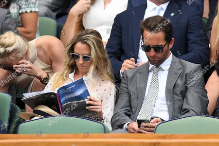 Ben Ainslie and Georgie Thompson in the Royal Box