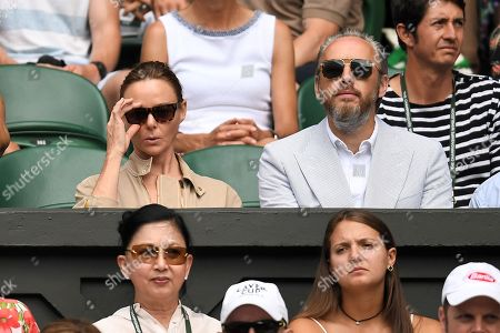 Stella McCartney and Alasdhair Willis on Centre Court