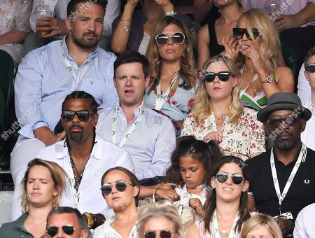 Declan Donnelly, Ali Astall, David Haye and Katie Piper on Centre Court