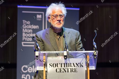 Stock Picture of Author Michael Ondaatje wins The Golden Man Booker celebrating the 50th anniversary of the Man Booker prize. The author won with their book The English Patient.