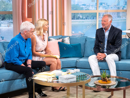 Stock Image of Phillip Schofield and Holly Willoughby with John Leslie