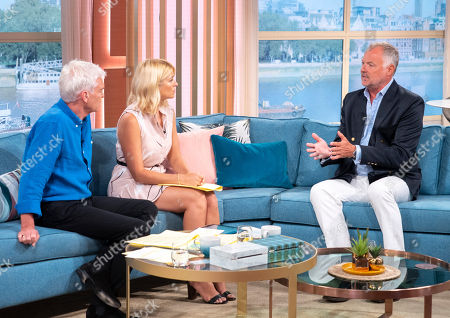 Phillip Schofield and Holly Willoughby with John Leslie