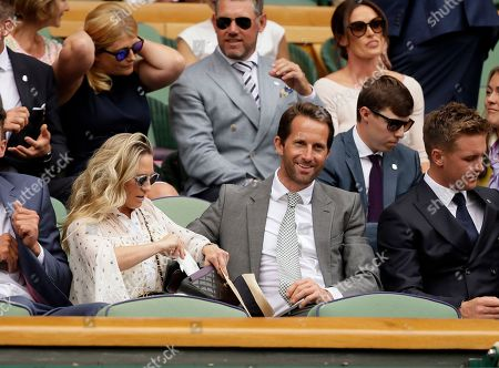British sailor Ben Ainslie sits in the Royal Box on Centre Court on day seven of the Wimbledon Tennis Championships, in London