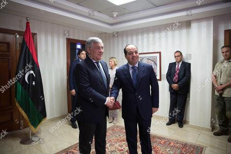 Antonio Tajani and Ahmed Maiteeq