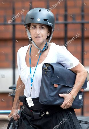 Stock Photo of Marina Wheeler, wife of Boris Johnson, arrives at the official residence of the foreign secretary after Boris Johnson resigned.