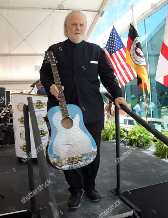 Isaac Tigrett co-founder of the Hard Rock Cafe attends the Seminole Hard Rock Hotel and Casino Topping Out Ceremony for the guitar shaped hotel scheduled to open in Fall 2019