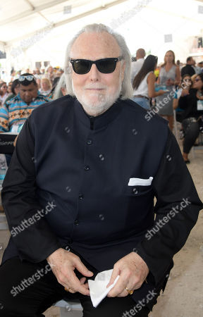 Stock Picture of Isaac Tigrett co-founder of the Hard Rock Cafe attends the Seminole Hard Rock Hotel and Casino Topping Out Ceremony for the guitar shaped hotel scheduled to open in Fall 2019