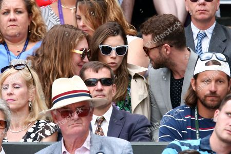 Jessica Biel and Justin Timberlake on Centre Court