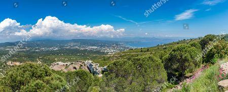 On the Route des Cretes Cassis, Calanques coast off La Ciotat, La Ciotat, Provence-Alpes-Cote d'Azur, France