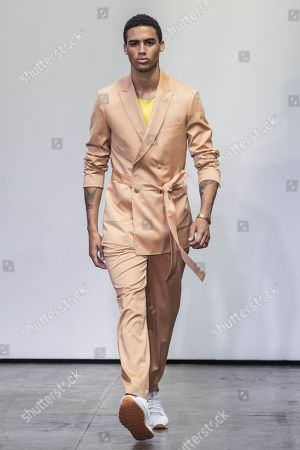 Editorial picture of Carlos Campos show, Runway, Spring Summer 2019, New York Fashion Week Men's, USA - 09 Jul 2018