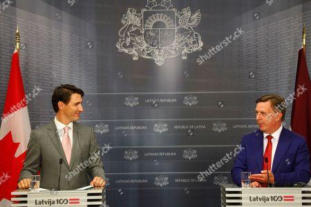 Maris Kucinskis and Justin Trudeau