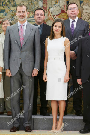 Spanish Royals attends audiences, Zarzuela Palace, Madrid