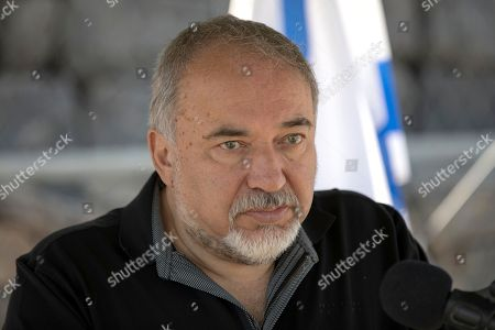 Israeli Defense Minister Avigdor Lieberman visits the Israeli-Syrian border in the Golan Heights, 10 July 2018. Lieberman paid a visit to the Israeli occupied Golan Heights to send a message towards Syria. Her is quoted by media giving a warning to all organizations allegedly associated with Iranian militias who seek to allegedly establish a terror network in the Golan Heights, and rejecting any intake of refugees.