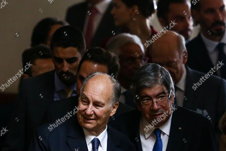 Prince Karim Aga Khan and Ferro Rodrigues