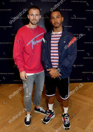 Marcus Butler and Lewis Hamilton