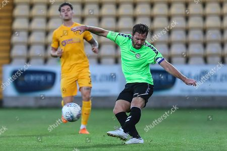 Forest Green Rovers Scott Laird(3) crosses the ball during the Pre-Season Friendly match between Torquay United and Forest Green Rovers at Plainmoor, Torquay. Picture by Shane Healey