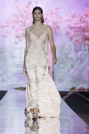 Marta Ortiz on catwalk