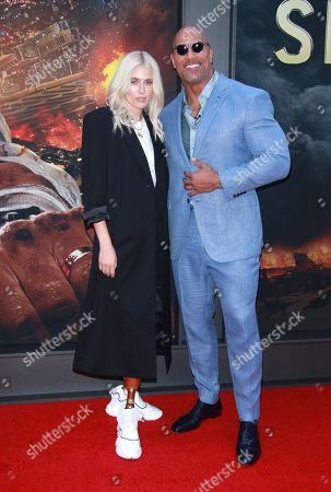 Lauren Wasser and Dwayne Johnson