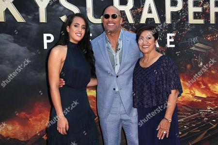 Simone Johnson, Dwayne Johnson and Ata Johnson