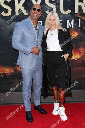 Dwayne Johnson and Lauren Wasser