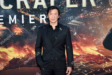"Chin Han attends the ""Skyscraper"" premiere at AMC Loews Lincoln Square, in New York"