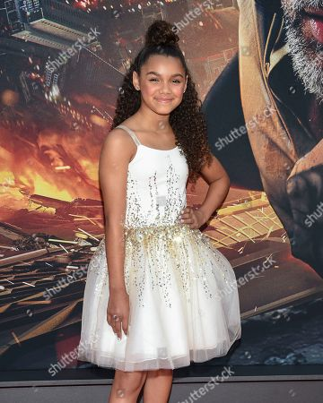 """McKenna Roberts attends the """"Skyscraper"""" premiere at AMC Loews Lincoln Square, in New York"""
