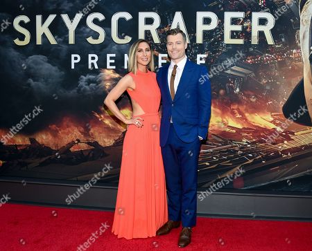 "Sarah Koplin, Rawson Marshall Thurber. Director Rawson Marshall Thurber and wife Sarah Koplin attend the ""Skyscraper"" premiere at AMC Loews Lincoln Square, in New York"