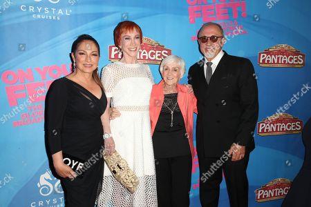Gloria Estefan, Kathy Griffin, Maggie Griffin and Emilio Estefan