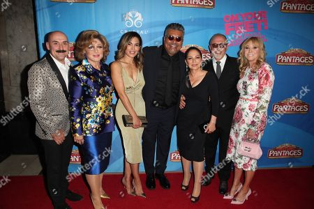 Angelica Maria, Nadine Velazquez, George Lopez, Gloria Estefan, Emilio Estefan and guest