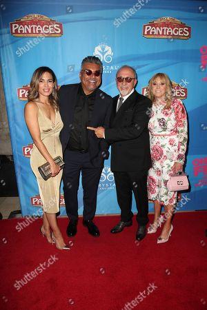 Nadine Velazquez, George Lopez, Emilio Estefan and guest