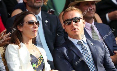Chris Hoy and Sarra Hoy in the Royal Box