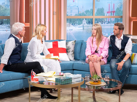 Holly Willoughby and Phillip Schofield with Lucia Cochrane and Nicholas Cochrane