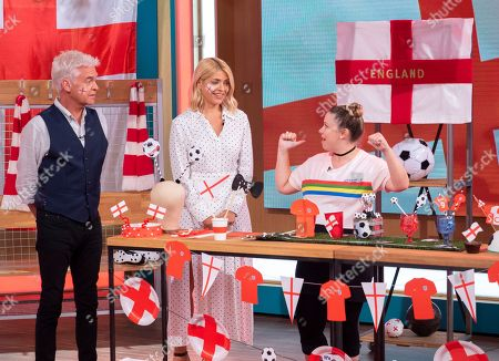 Holly Willoughby and Phillip Schofield with Sophie Prescott