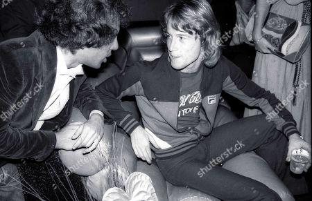 Stock Photo of 1978 New York City Steve Rubell Andy Gibb at Studio 54 Usa New York City