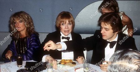 1978 Farrah Fawcett Shirley Maclaine and Mikhail Barishnikov at Studio 54 Usa New York City