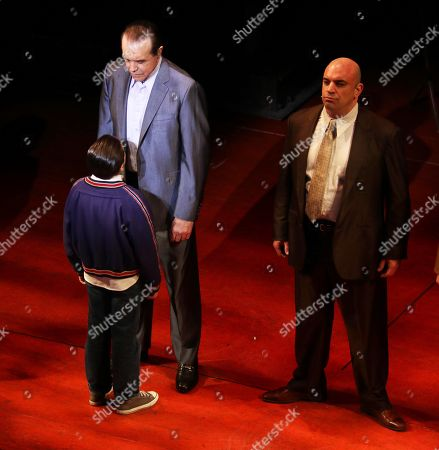 Chazz Palminteri Hudson Loverro in '' a Bronx Tale'' Broadway Play at the Longacre Theatre On W 48st 6/6/2018 Usa New York City