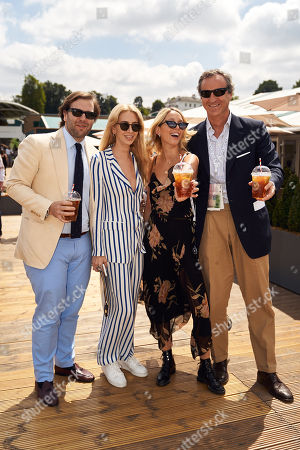 Stock Picture of Joseph Getty, Sabine Getty, Princess Maria-Olympia of Greece and Peter Sartogo
