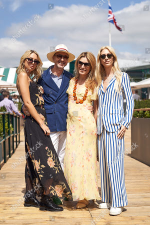 Sabine Getty, Martina Mondadori Sartogo, Gianluca Longo and Princess Maria-Olympia of Greece