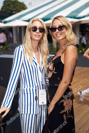 Sabine Getty with Princess Maria-Olympia of Greece