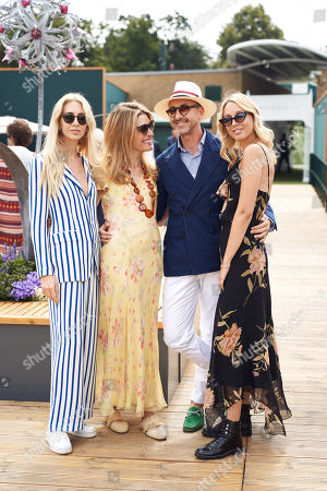 Sabine Getty, Martina Mondadori Sartogo, Gianluca Longo and Princess Maria-Olympia of Greece