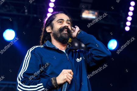 Stock Picture of Jamaican reggae singer Damian 'Jr Gong' Marley performs on the Main Stage, during the 35th Gurten music festival in Bern, Switzerland, 11 July 2018. The open air music festival runs from 11 to 14 July.