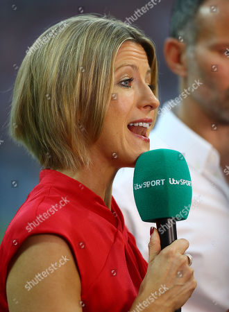 Jacqui Oatley reports on the game for ITV