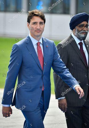 Stock Photo of Prime Minister of Canada Justin Trudeau, Minister of National Defence Minister Harjit Singh Sajjan