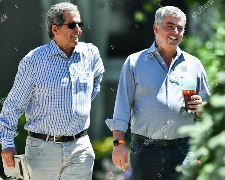 Peter Chernin and Eddy Cue