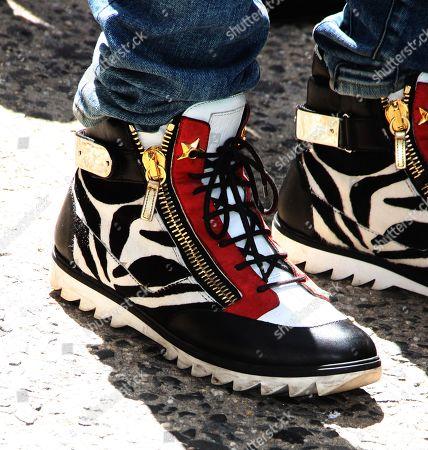 Stock Image of Thomas Quinn Jones, shoe detail