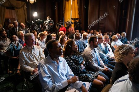 Environmental Protection Agency (EPA) employees listen to Acting EPA Administrator Andrew Wheeler speak to them about his taking the helm at EPA headquarters in Washington, DC, USA, 11 July 2018. Wheeler temporarily replaces ousted former EPA chief Scott Pruitt, whose short tenure at the agency was marred by numerous scandals and more than a dozen ethical inquiries.