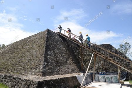 Archaeologists work at the archaeological site of Teopanzolco, Morelos state, Mexico, 11 July 2018. An earthquake on 19 September 2017 caused serious damage to the Teopanzolco archaeological zone in central Mexico, but also brought about a revelation: a new building of worship that could be older than the Templo Mayor (Greater Temple) of the Aztec city of Tenochtitlan. The site remains protected and closed to the public since the 7.1-magnitude quake put its stability at risk.