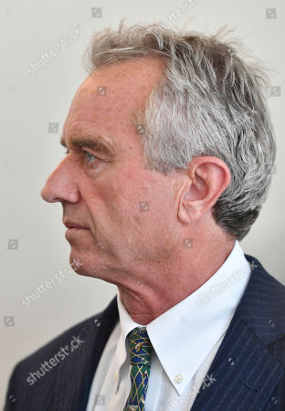Robert Francis Kennedy Jr. speaks to members of the media during a recess at the Monsanto trial being held at the Superior Court of California in San Francisco, California on . Monsanto is being accused of hiding the dangers of its popular Roundup products